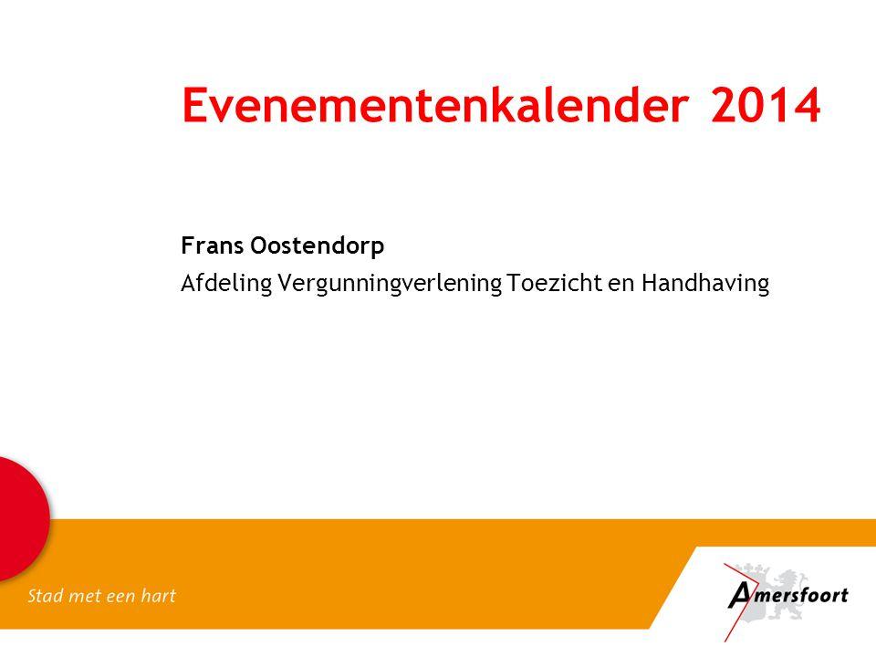Evenementenkalender 2014 Frans Oostendorp