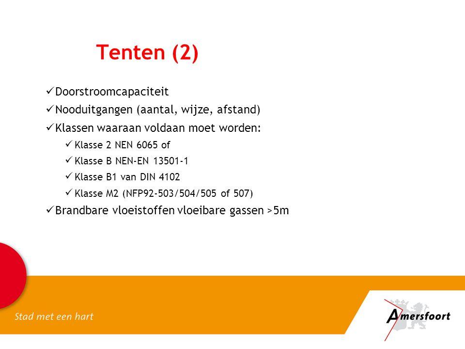 Tenten (2) Doorstroomcapaciteit Nooduitgangen (aantal, wijze, afstand)