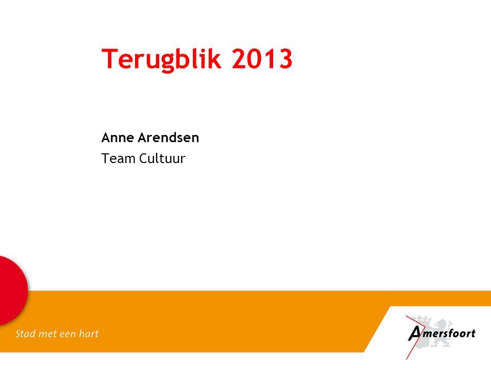 Terugblik 2013 Anne Arendsen Team Cultuur