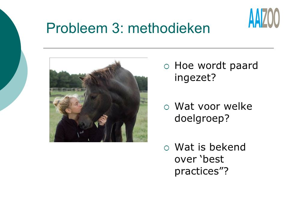 Probleem 3: methodieken