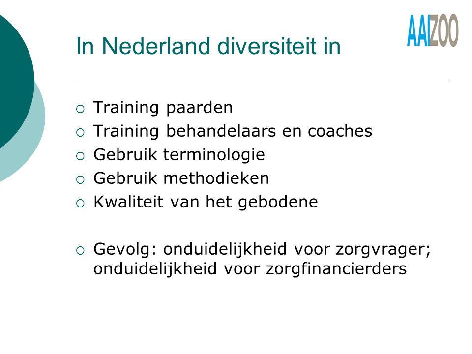 In Nederland diversiteit in