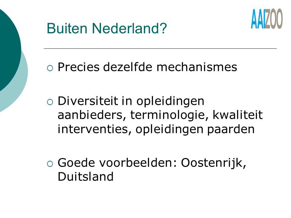 Buiten Nederland Precies dezelfde mechanismes