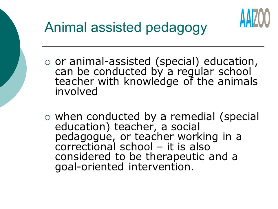 Animal assisted pedagogy