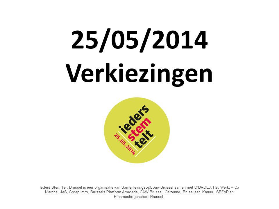 25/05/2014 Verkiezingen Une Voix pour Tous