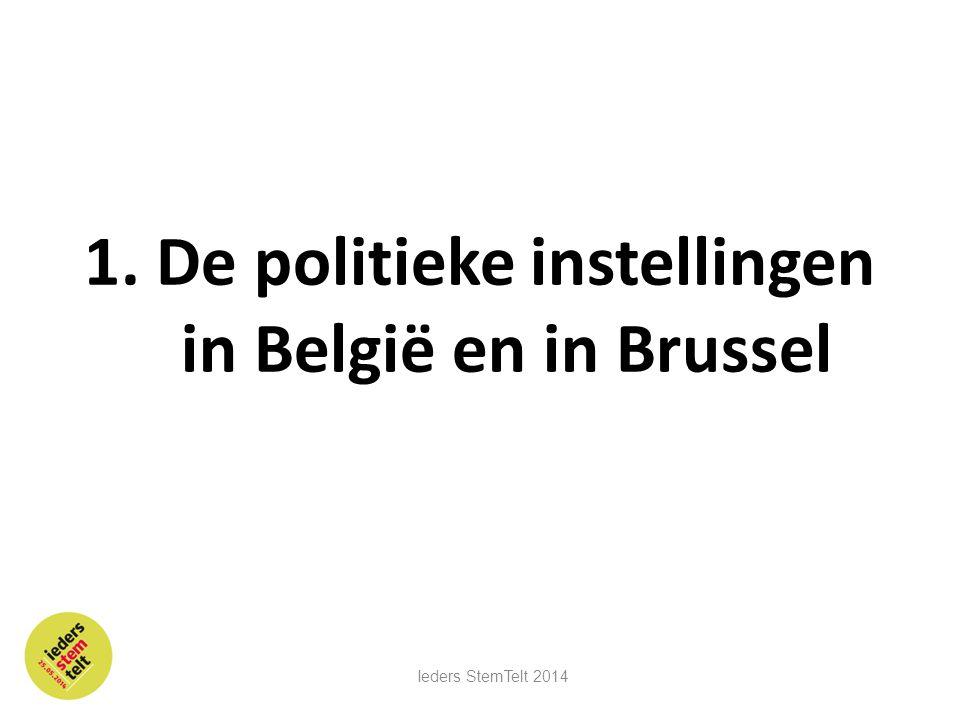 1. De politieke instellingen in België en in Brussel
