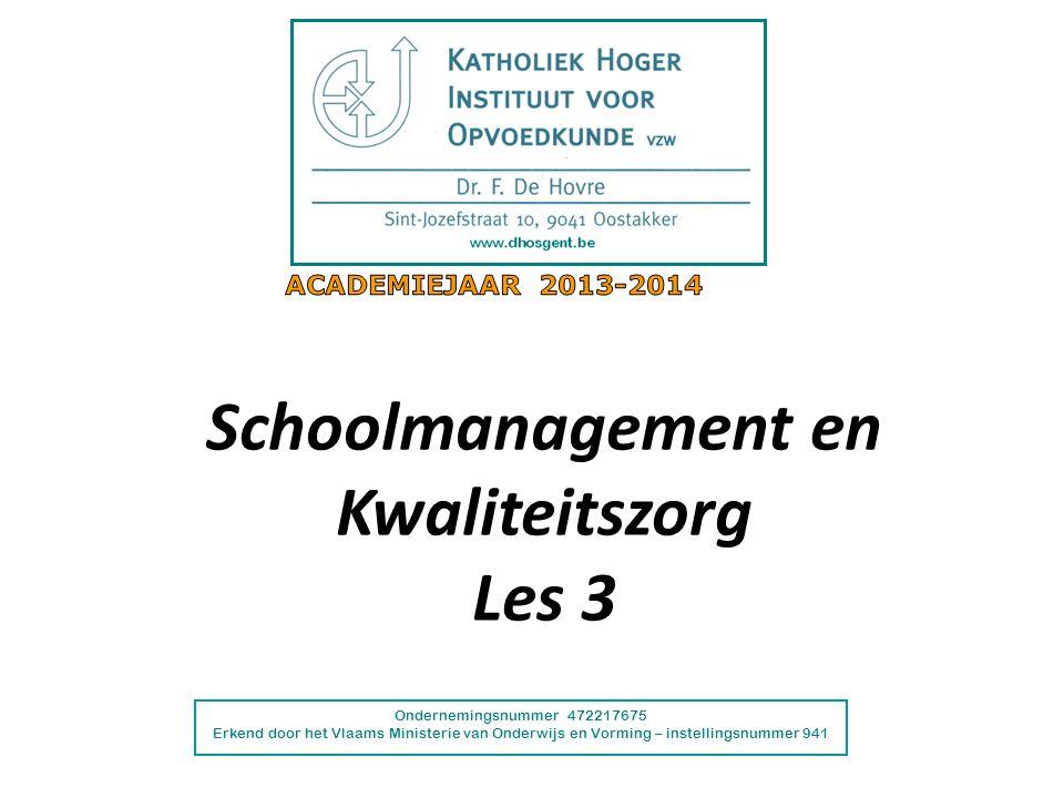 Schoolmanagement en Kwaliteitszorg