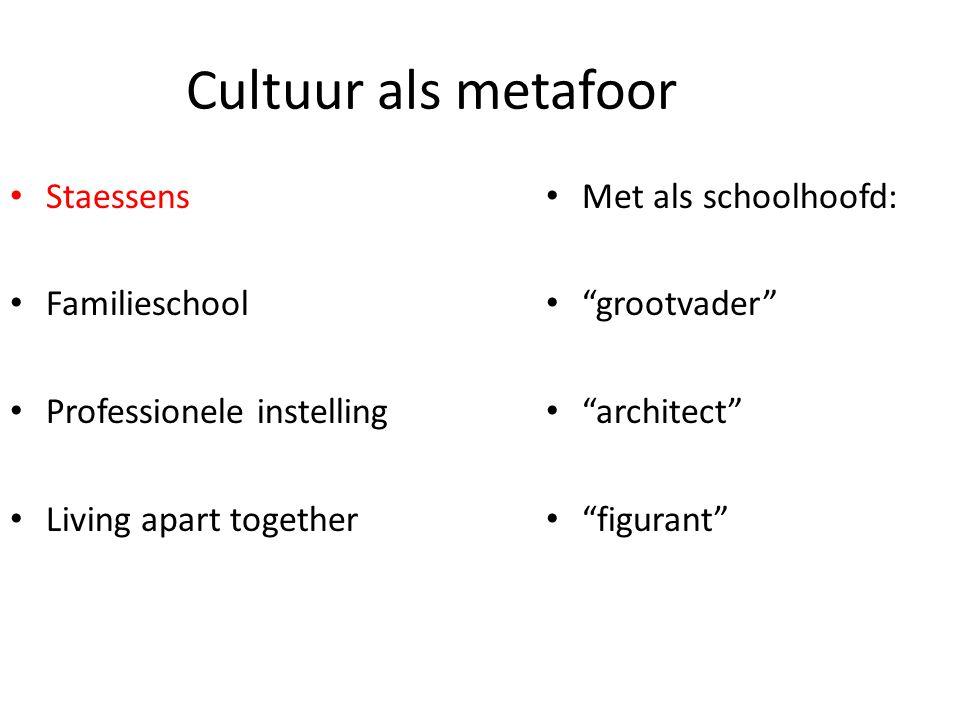 Cultuur als metafoor Staessens Familieschool Professionele instelling
