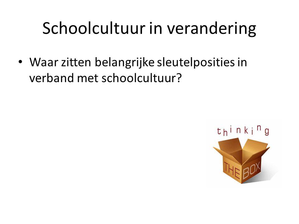 Schoolcultuur in verandering
