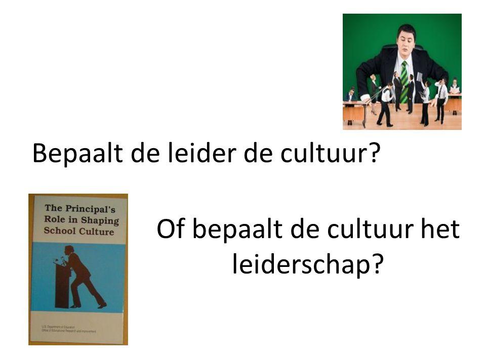 Bepaalt de leider de cultuur