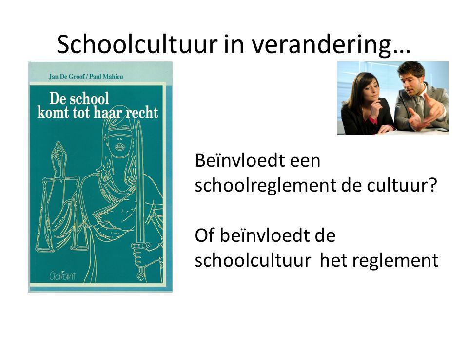 Schoolcultuur in verandering…