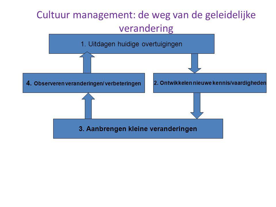 Cultuur management: de weg van de geleidelijke verandering