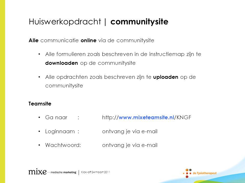Huiswerkopdracht | communitysite