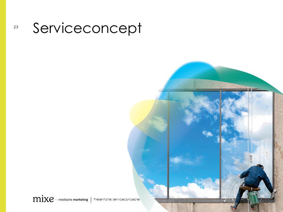 Serviceconcept Presentatie: serviceconcepten voor uw cliënten