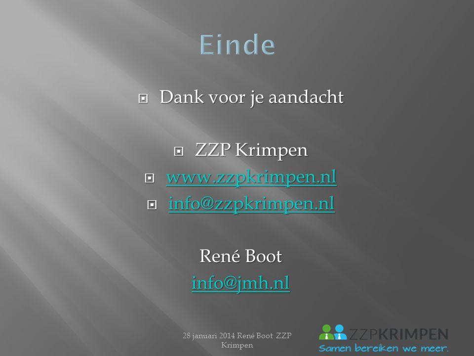 28 januari 2014 René Boot ZZP Krimpen