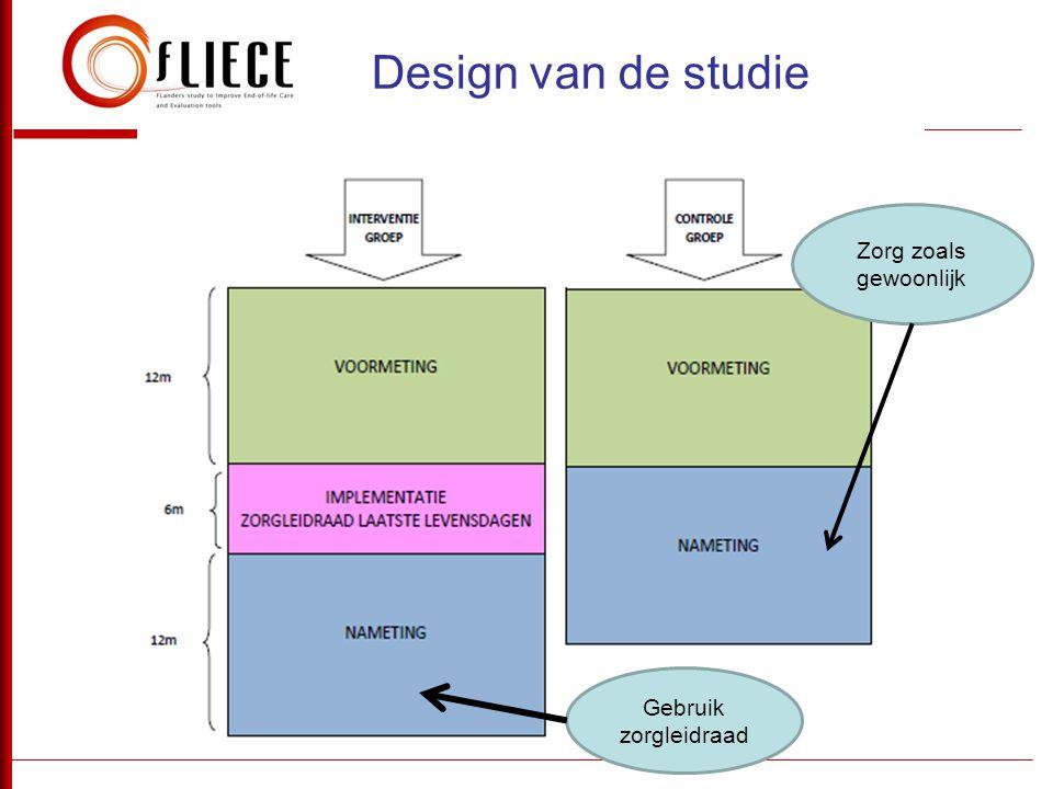 Design van de studie Zorg zoals gewoonlijk Gebruik zorgleidraad