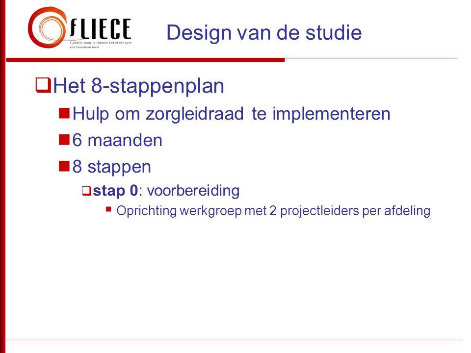 Design van de studie Het 8-stappenplan
