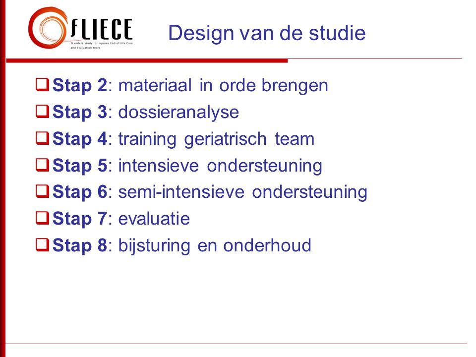 Design van de studie Stap 2: materiaal in orde brengen