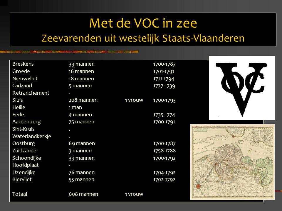 Met de VOC in zee Zeevarenden uit westelijk Staats-Vlaanderen