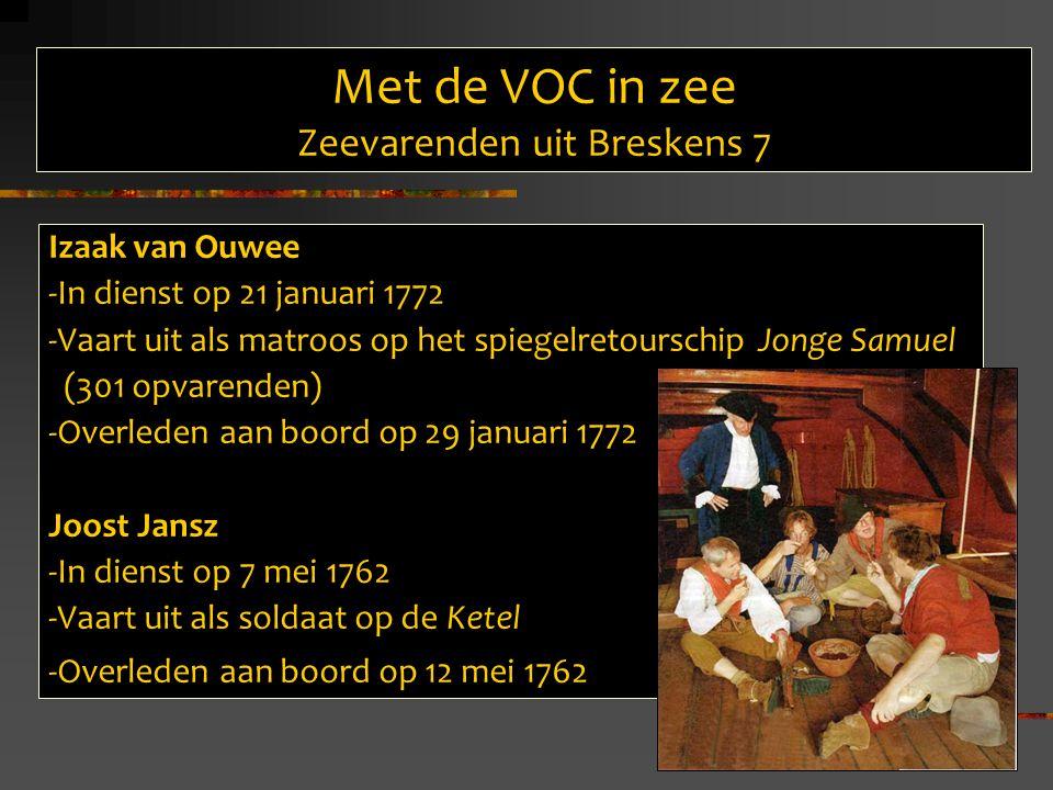Met de VOC in zee Zeevarenden uit Breskens 7