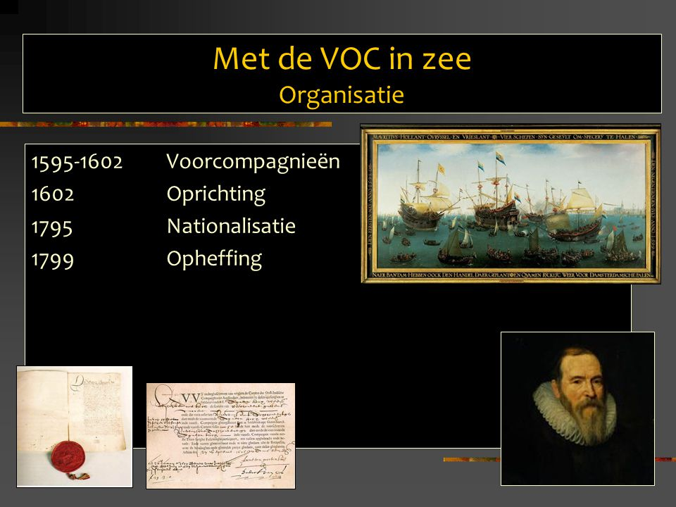 Met de VOC in zee Organisatie