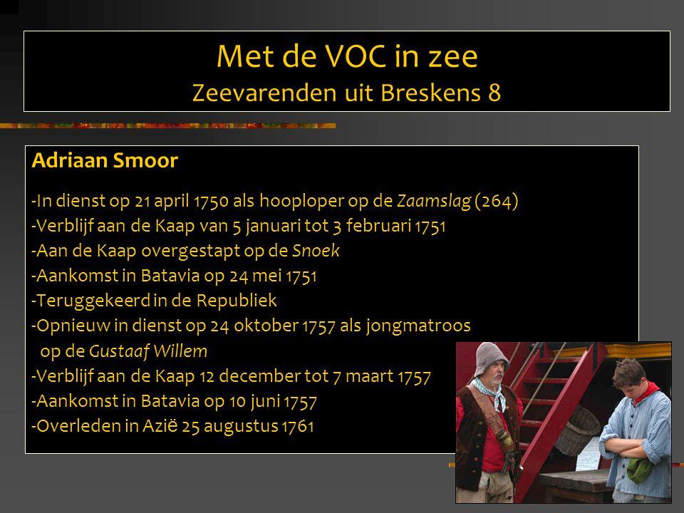 Met de VOC in zee Zeevarenden uit Breskens 8