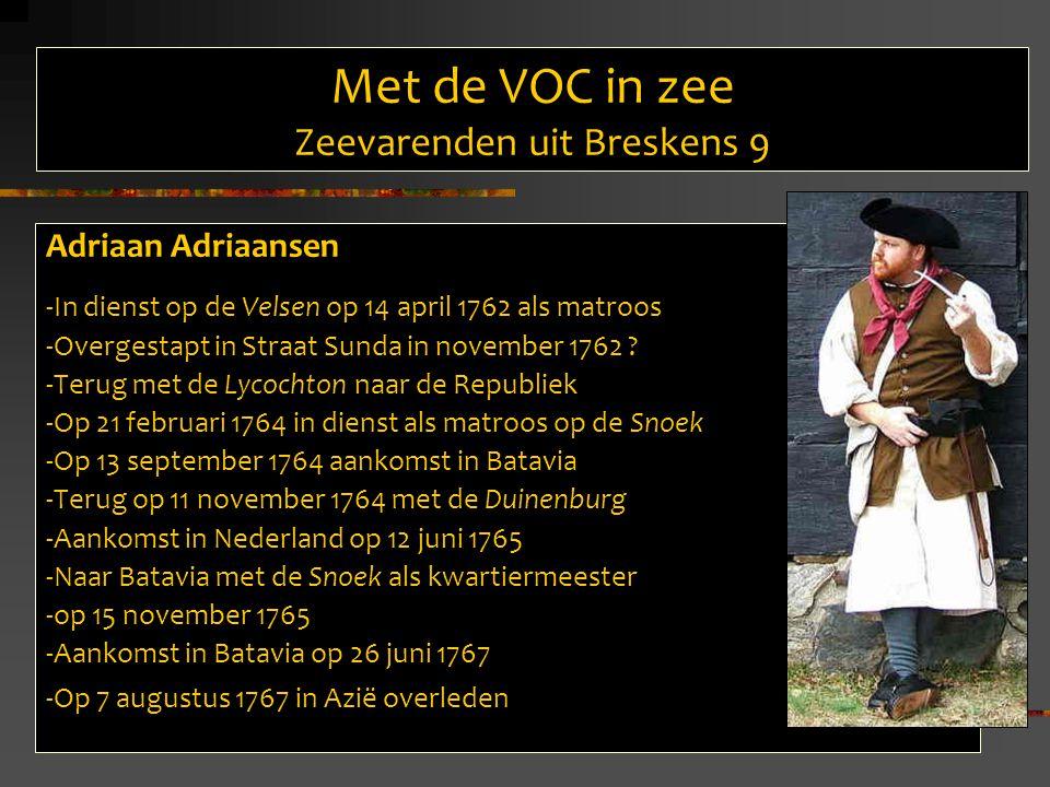 Met de VOC in zee Zeevarenden uit Breskens 9