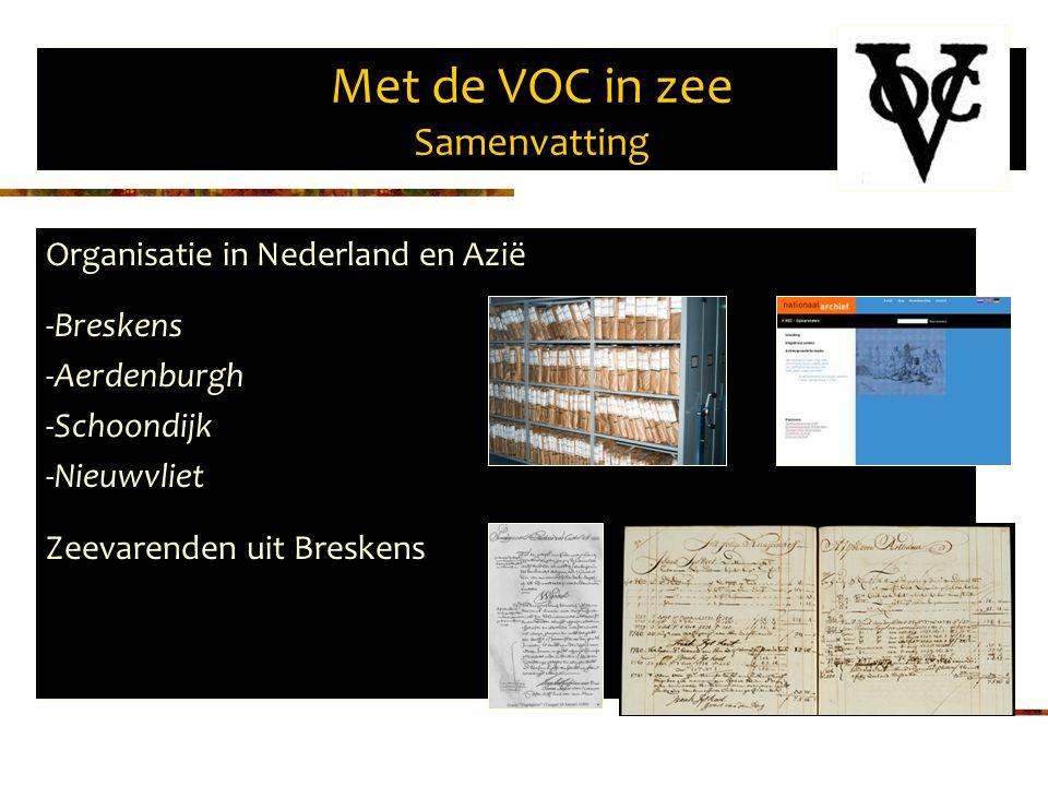 Met de VOC in zee Samenvatting