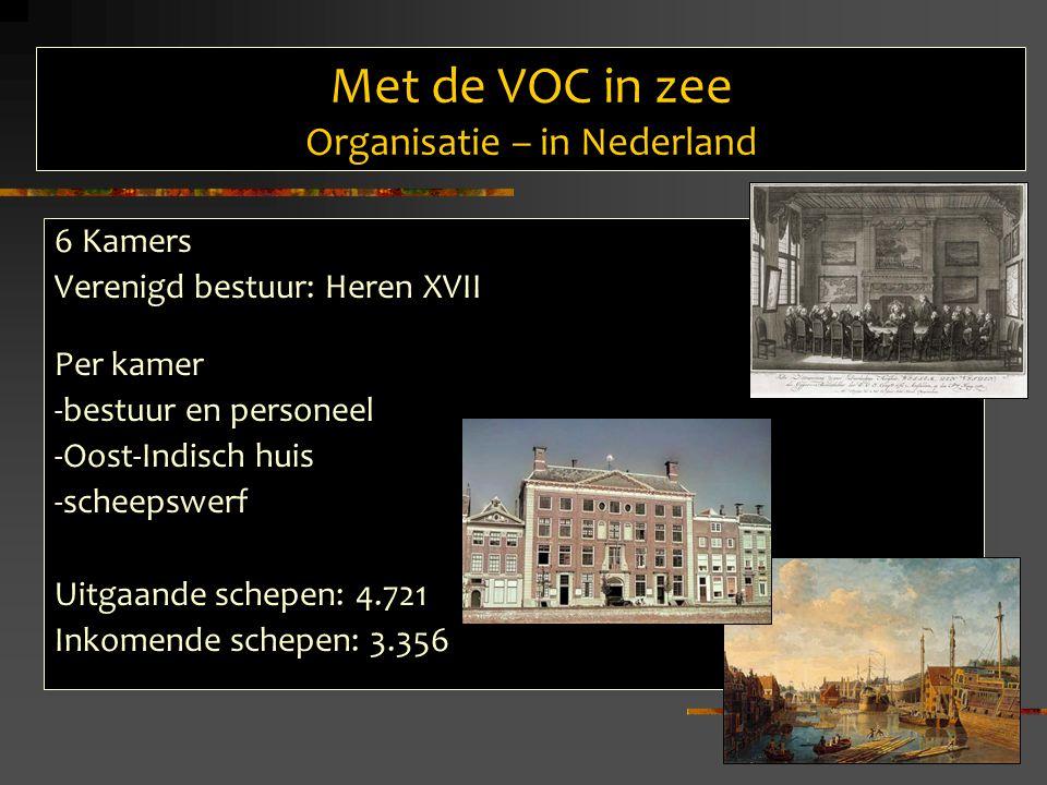 Met de VOC in zee Organisatie – in Nederland
