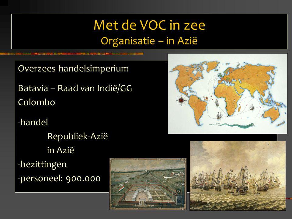 Met de VOC in zee Organisatie – in Azië