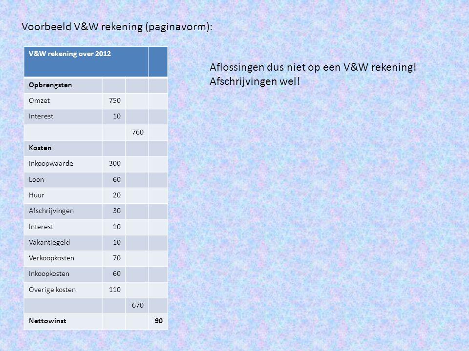 Voorbeeld V&W rekening (paginavorm):