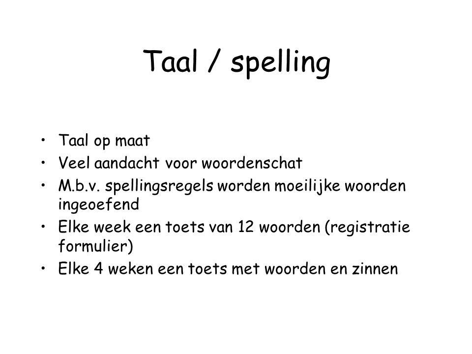 Taal / spelling Taal op maat Veel aandacht voor woordenschat