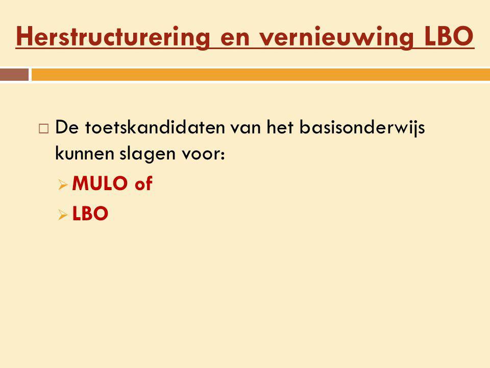 Herstructurering en vernieuwing LBO