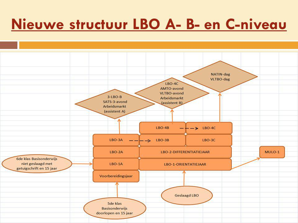 Nieuwe structuur LBO A- B- en C-niveau