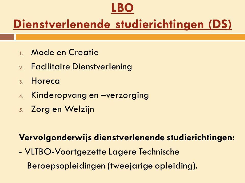 LBO Dienstverlenende studierichtingen (DS)