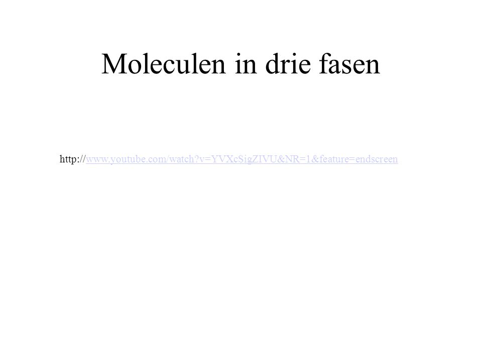 Moleculen in drie fasen
