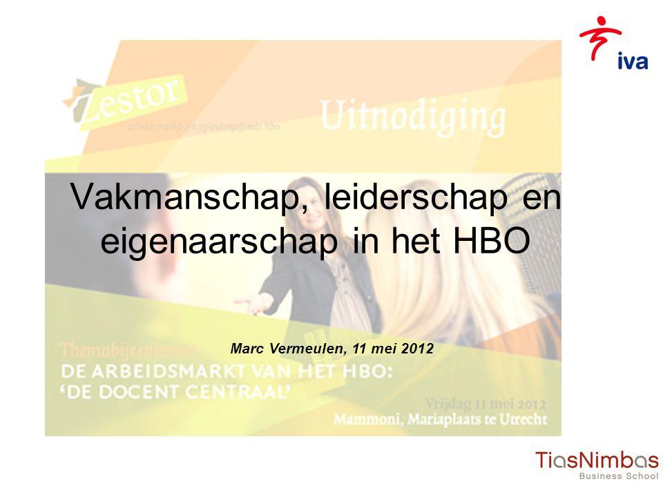 Vakmanschap, leiderschap en eigenaarschap in het HBO