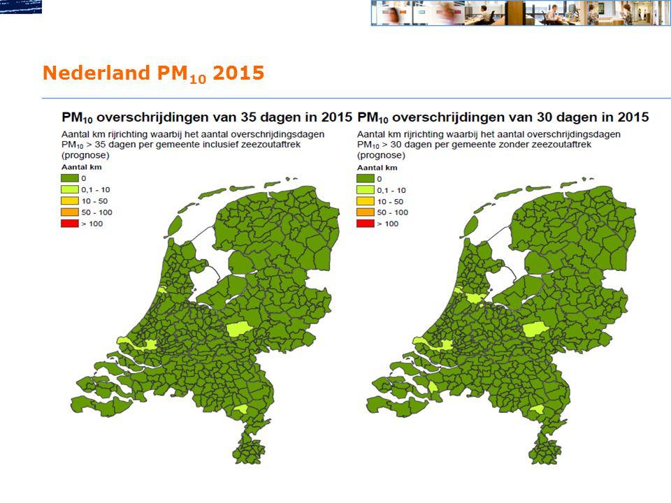 Nederland PM10 2015