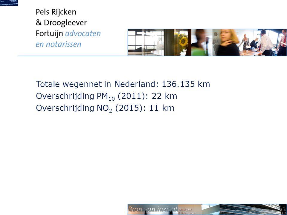 Totale wegennet in Nederland: 136.135 km