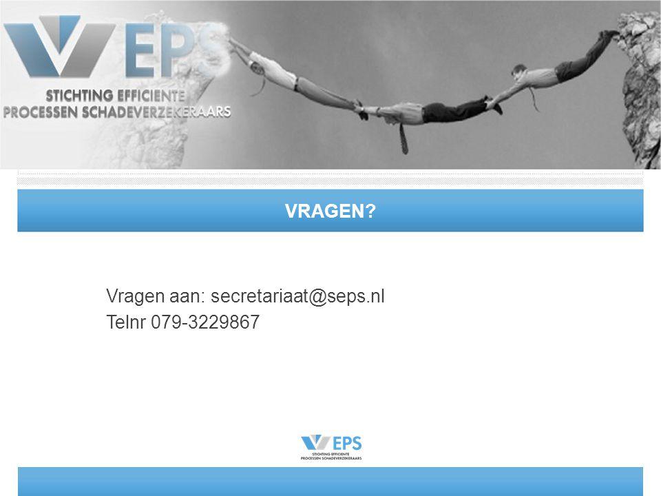 Vragen aan: secretariaat@seps.nl Telnr 079-3229867