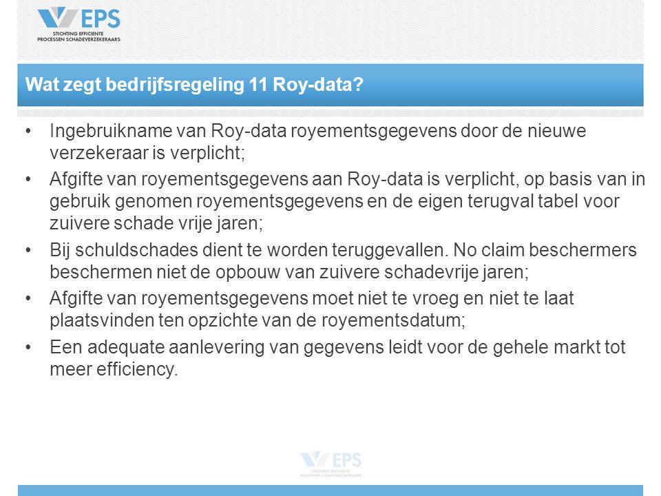 Wat zegt bedrijfsregeling 11 Roy-data