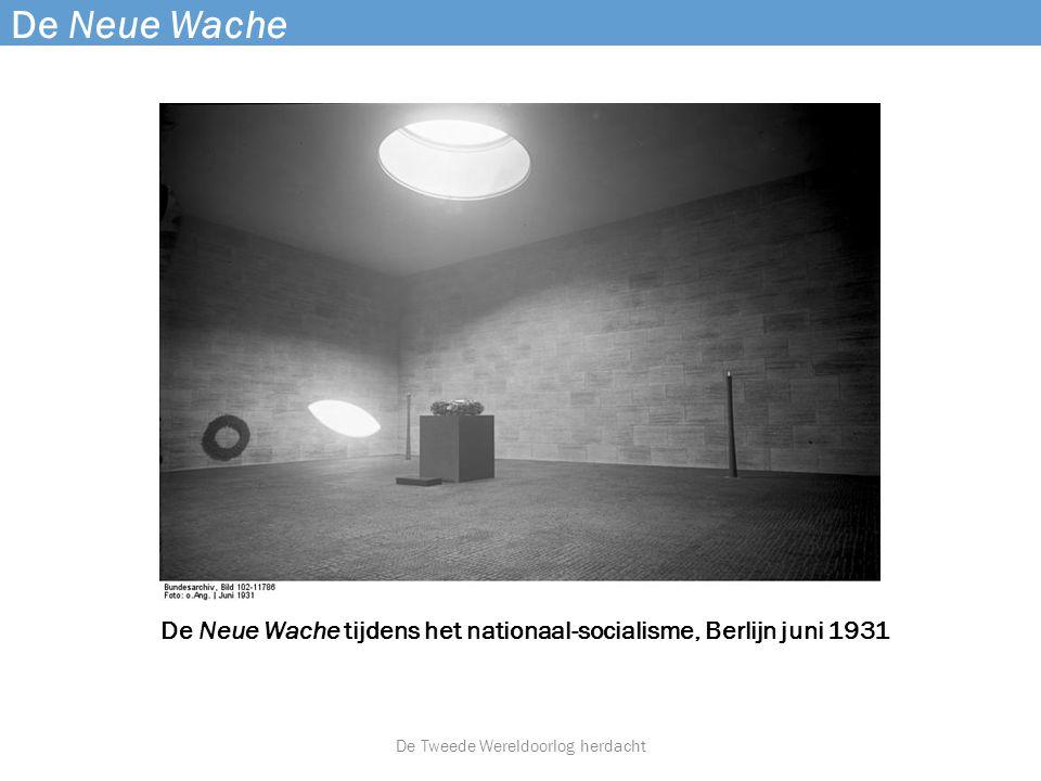 De Neue Wache tijdens het nationaal-socialisme, Berlijn juni 1931