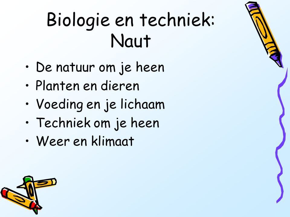 Biologie en techniek: Naut