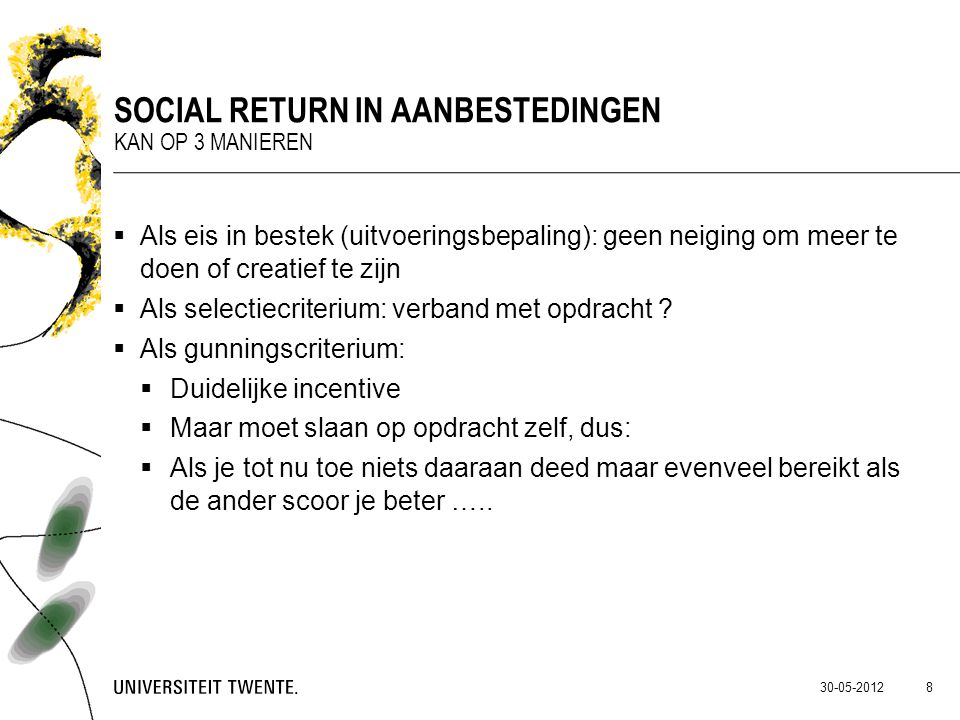 Social return in aanbestedingen
