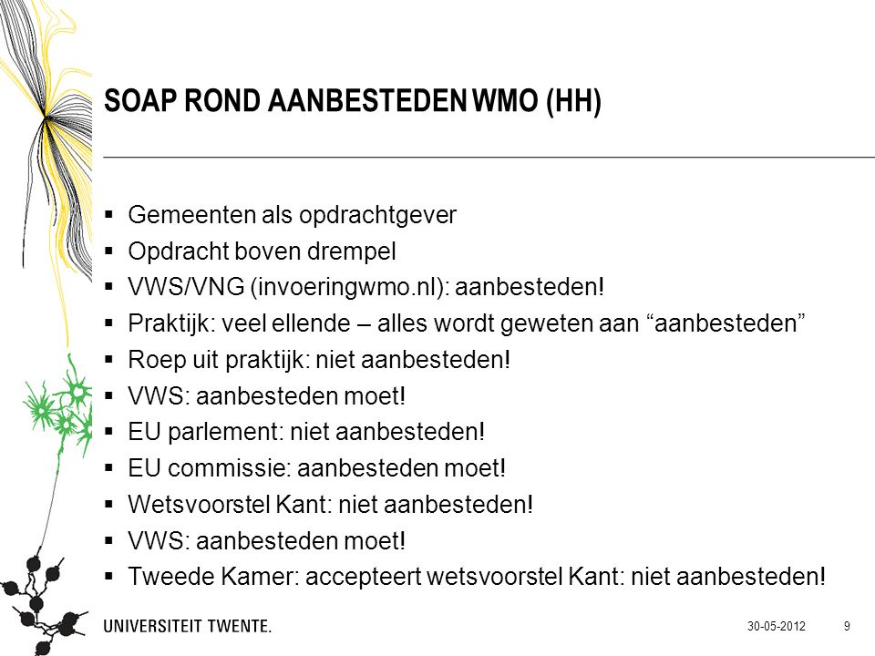 Soap rond aanbesteden WMO (HH)