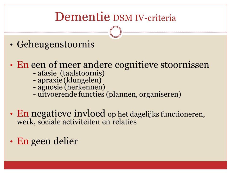 Dementie DSM IV-criteria