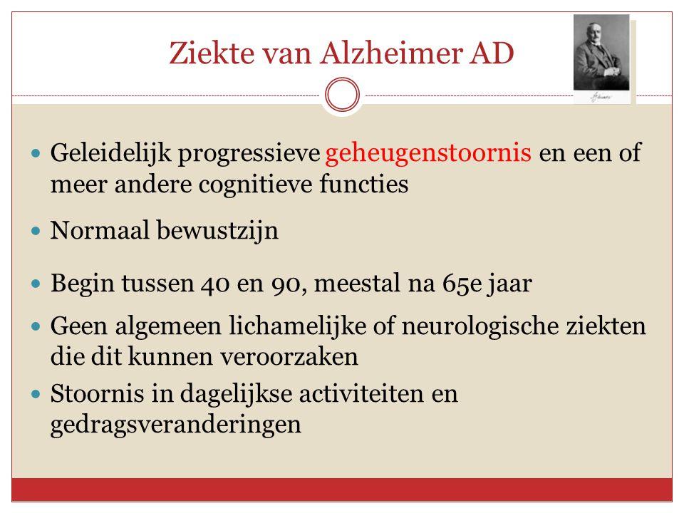 Ziekte van Alzheimer AD