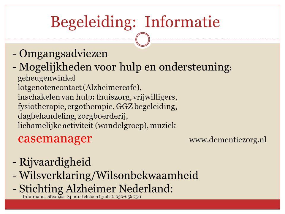 Begeleiding: Informatie