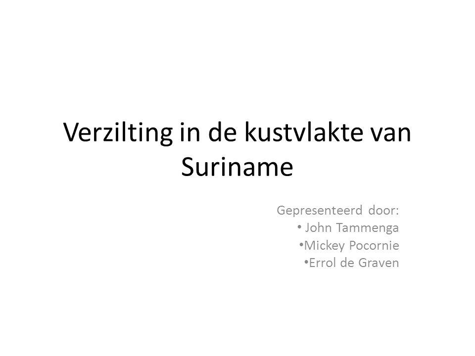 Verzilting in de kustvlakte van Suriname
