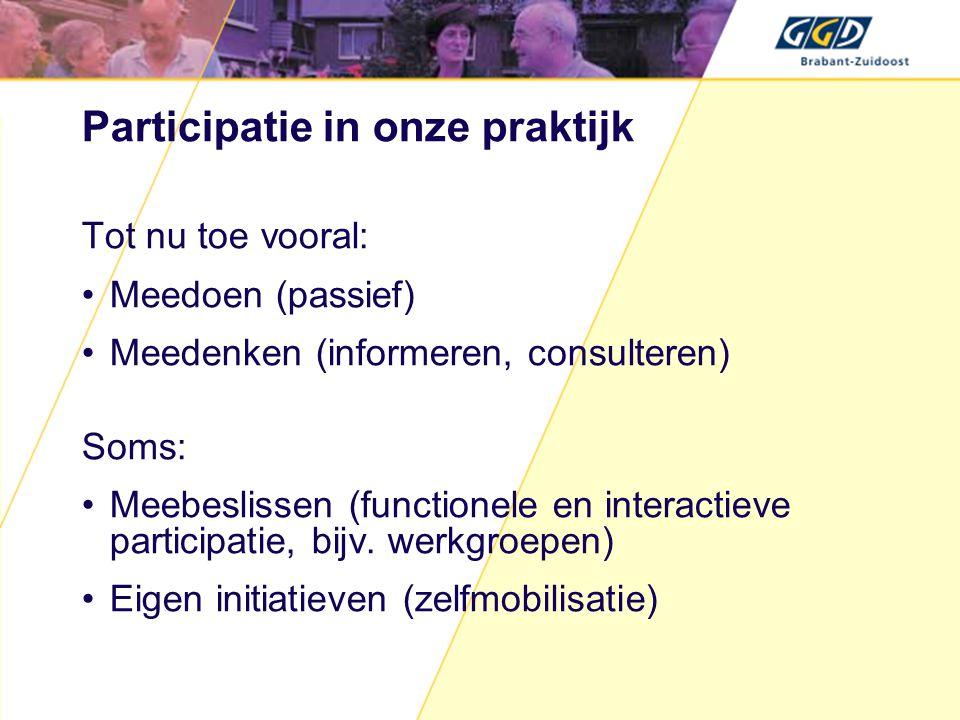 Participatie in onze praktijk