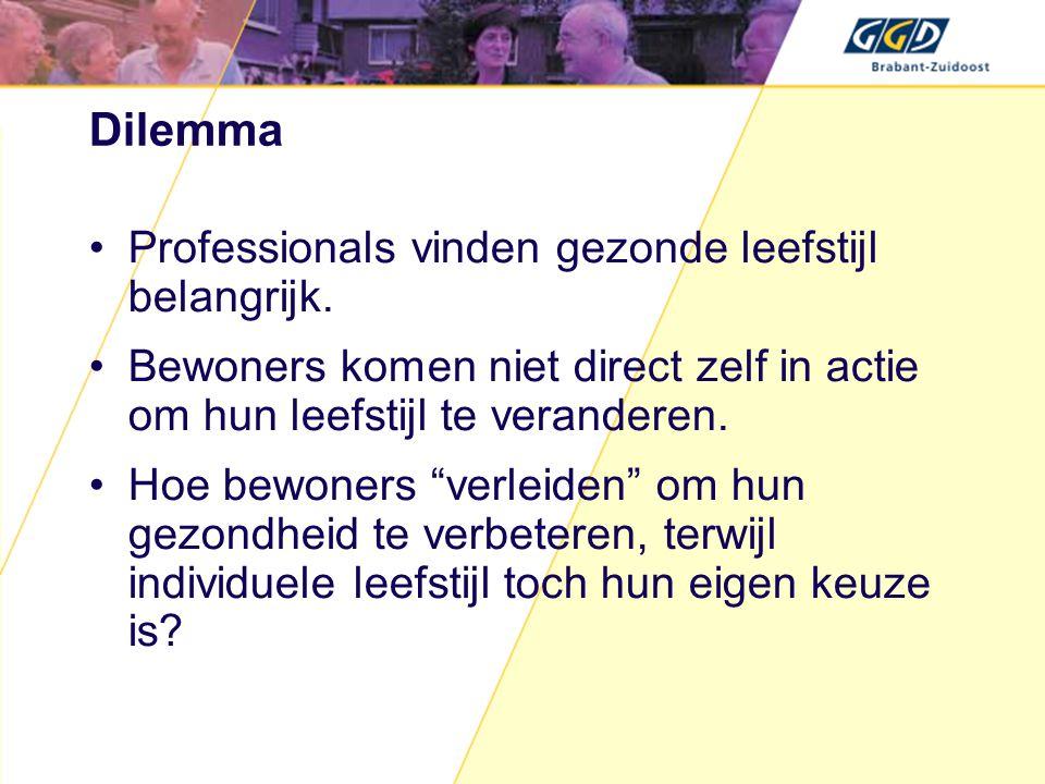 Dilemma Professionals vinden gezonde leefstijl belangrijk.